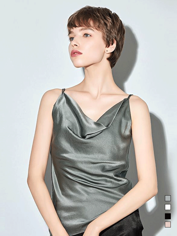 Stylish Comfy Cowls Silk Camisole、Real Silk Life
