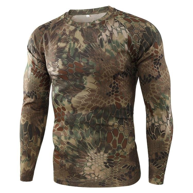 Men's Outdoor Quick-drying Camouflage Long Sleeve Tactical T-shirt / [viawink] /