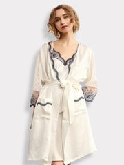 30 Momme Luxury Women's Design 2019 Lacey Silk Robe Set-Two Pieces、Real Silk Life