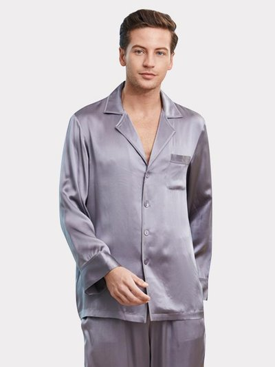 22 Momme High Quality Pure Silk Pajamas Set For Men、Real Silk Life
