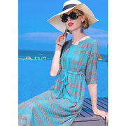 Elegant Half Sleeve Silk Dress、Real Silk Life