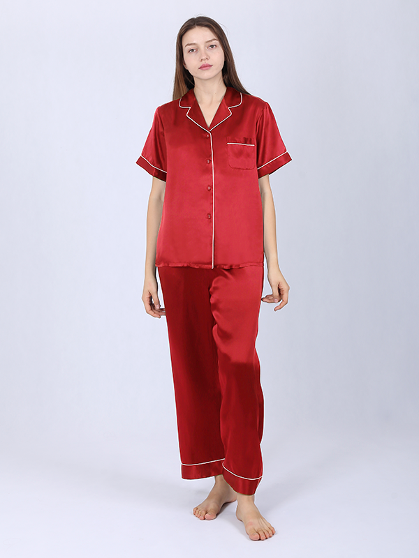 19 Momme Women's Chic Silk Pajamas Set Multi Colors Selected、Real Silk Life