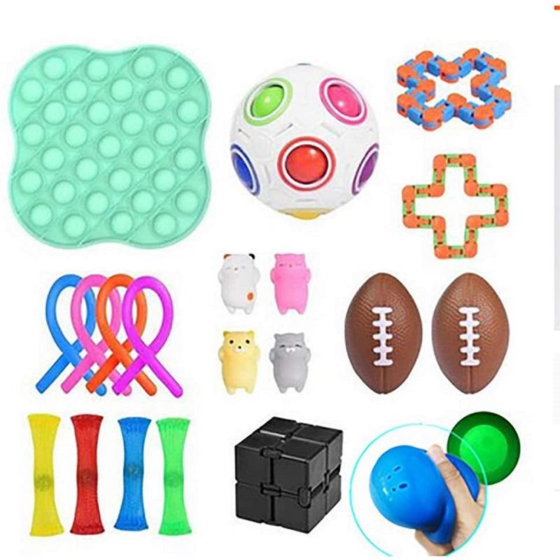 Decompression Toy Set Fidget Stress Relief Toys, 501 Original, Cesdeals  - buy with discount