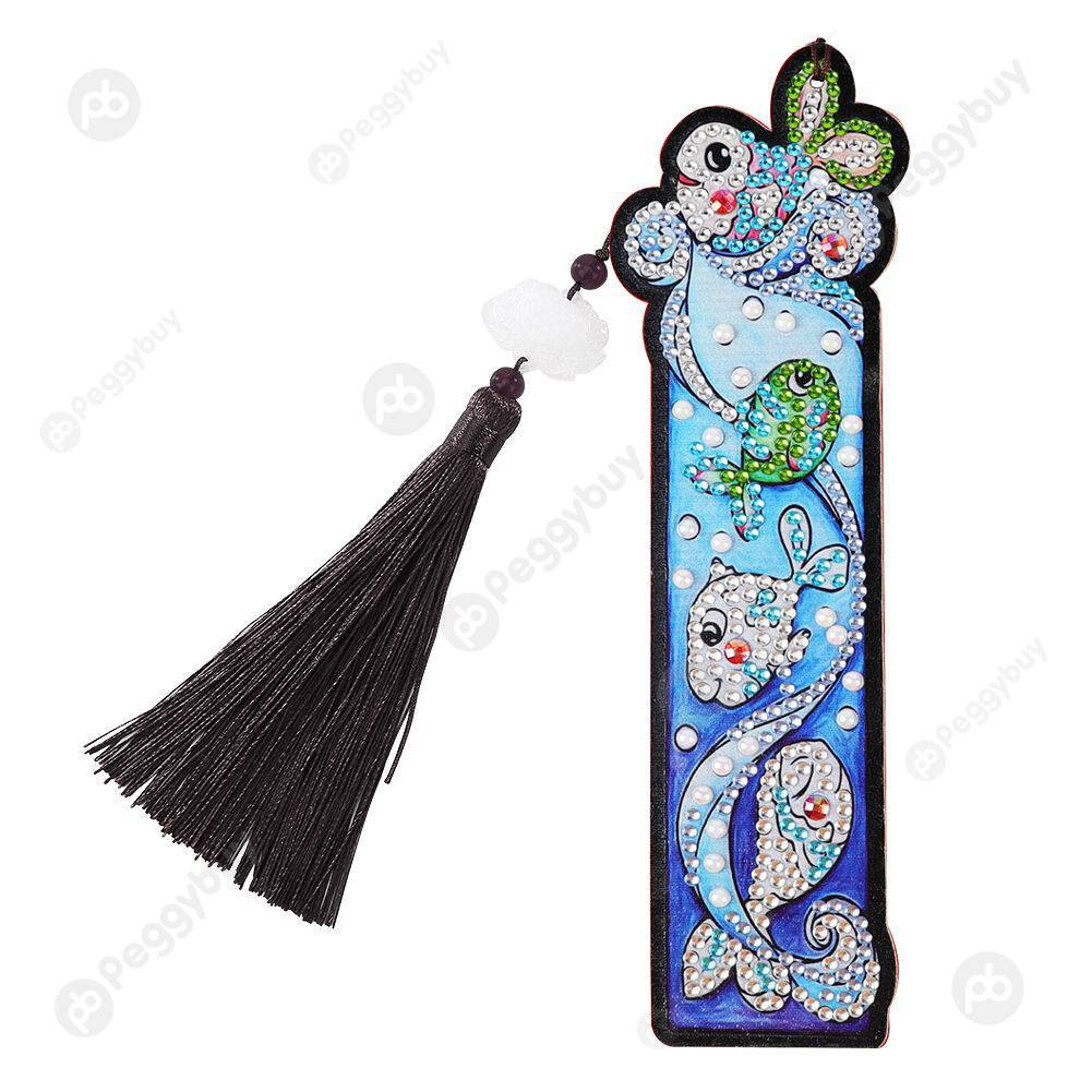 Peggybuy coupon: Fish-DIY Creative Diamond Tassel Bookmark
