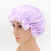 19 Momme Lace Silk Nightcap、REAL SILK LIFE