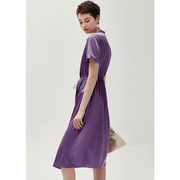 Solid Purple Silk Dress、Real Silk Life