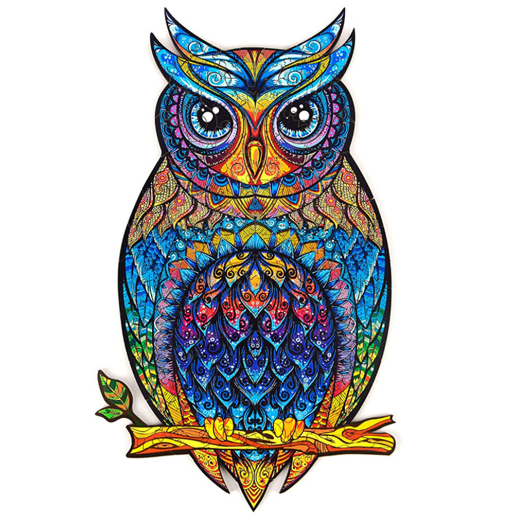 Peggybuy coupon: Wooden  Owl - Special Shaped Jigsaw Puzzle