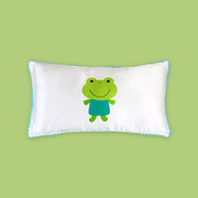 16 Momme Frog Prince Single Side Mulberry Silk Pillowcase For Kids Envelope Closure、Real Silk Life