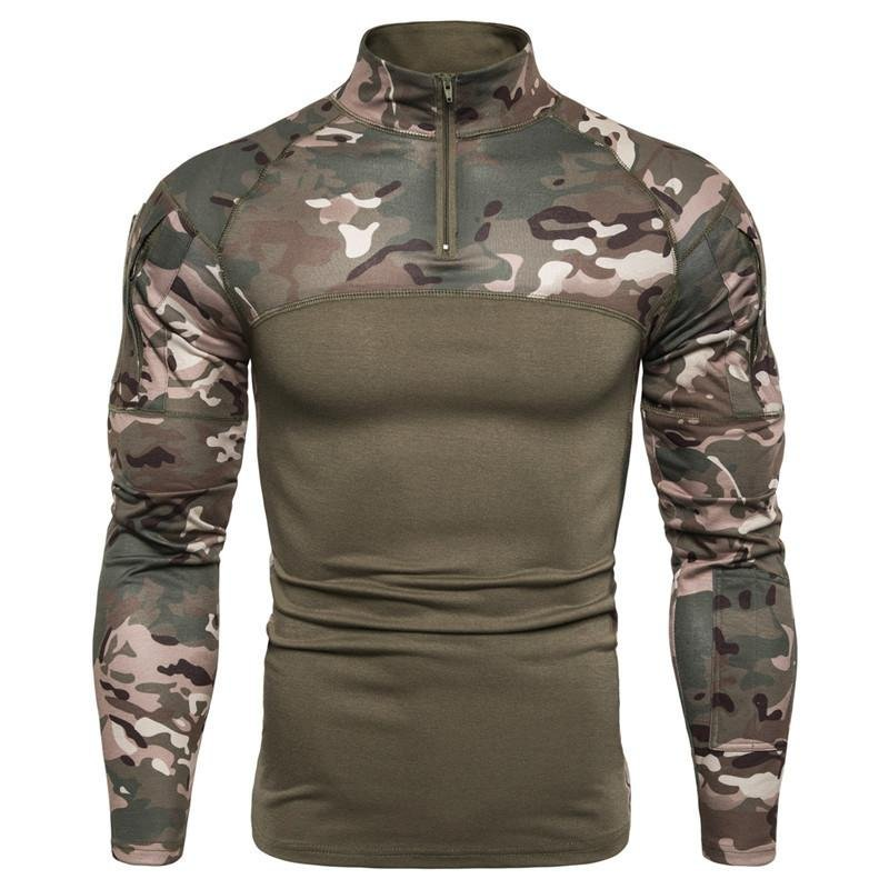 Men's Military Battlefield Outdoor Fitness Camo T-Shirt / [viawink] /