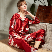 Luxury Guardian Angel Long Sleeve Silk Pajamas Set For Women、Real Silk Life