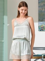 19 Momme Franch Design Lace Silk Camisole Set | Two Colors Selected、Real Silk Life