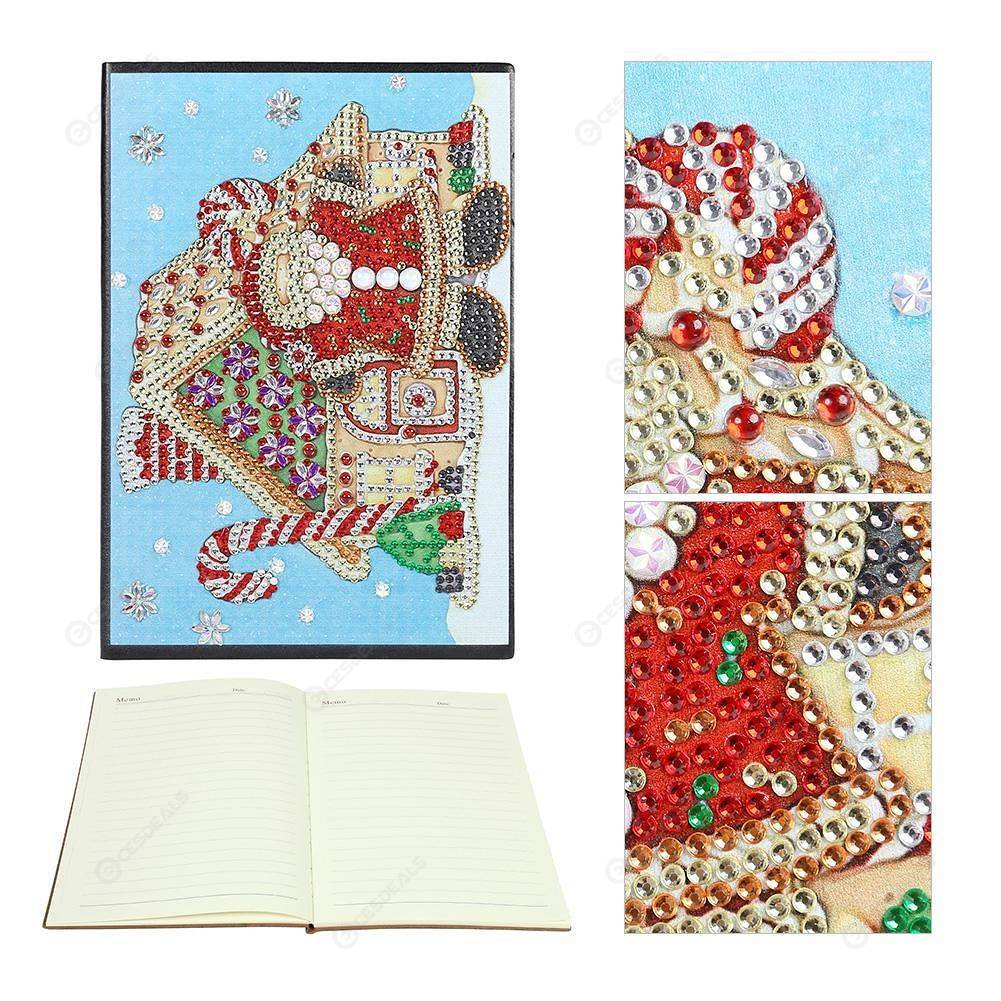 Peggybuy coupon: Santa Claus-DIY Creative Diamond 60 Pages A5 Notebook