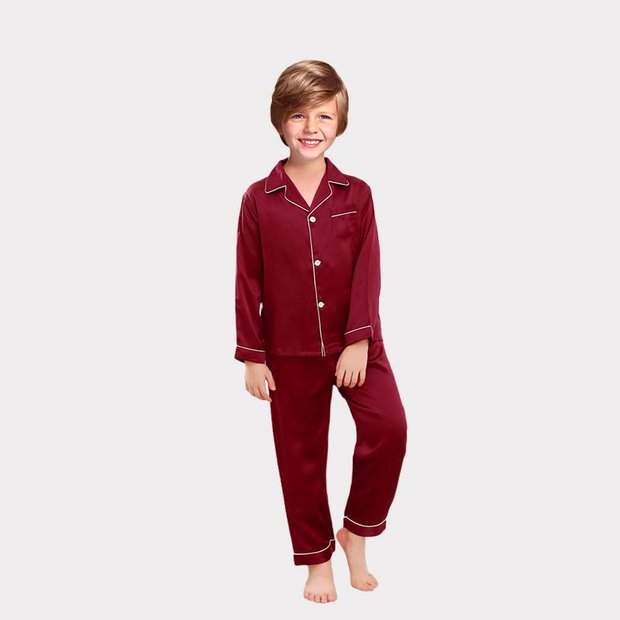 Classic Silk Pajamas Set For Boy、Real Silk Life