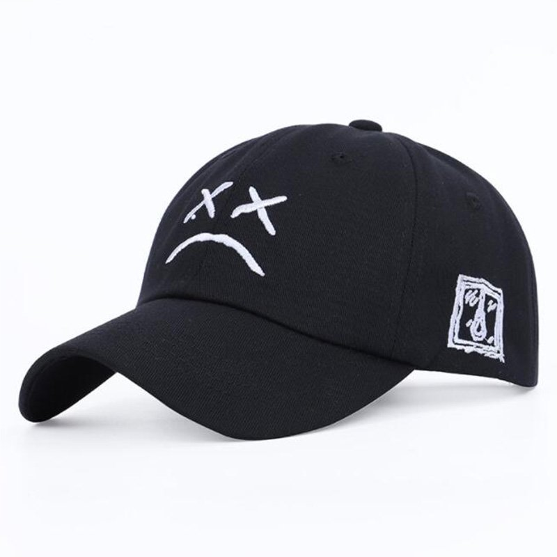 Baseball cap sad face expression funny unisex hat / [viawink] /
