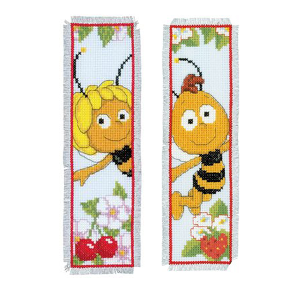 Bee - 14CT Counted Cross Stitch - Bookmark, 501 Original