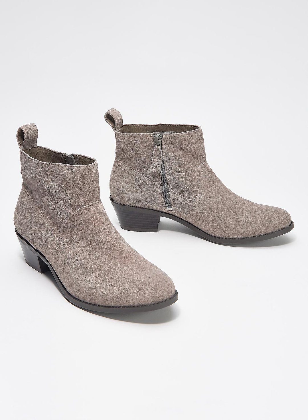 Gray British Style Thick Mid-heel Frosted Women's Shoes LC12333-11