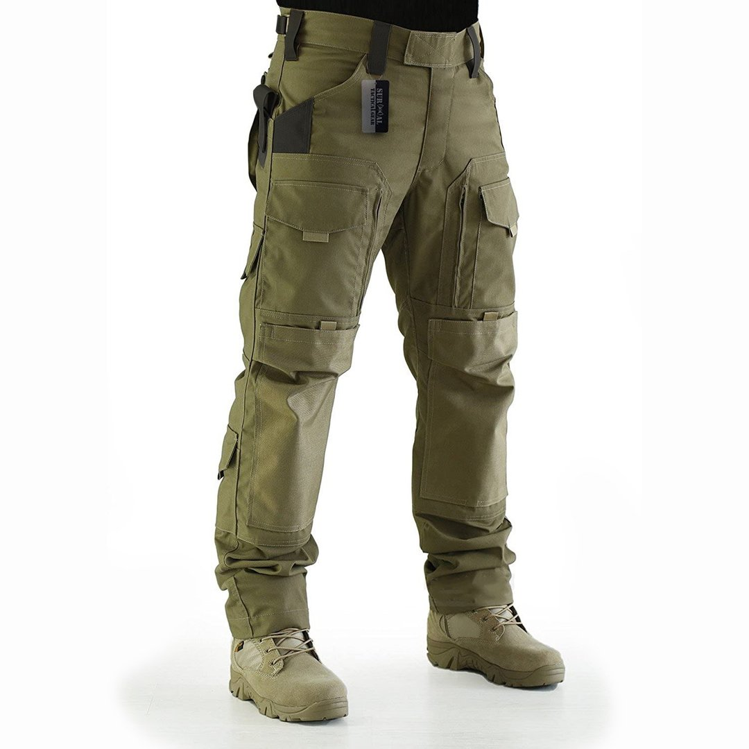 Mens Fashion Solid Color Outdoor Tactical Trousers / [viawink] /
