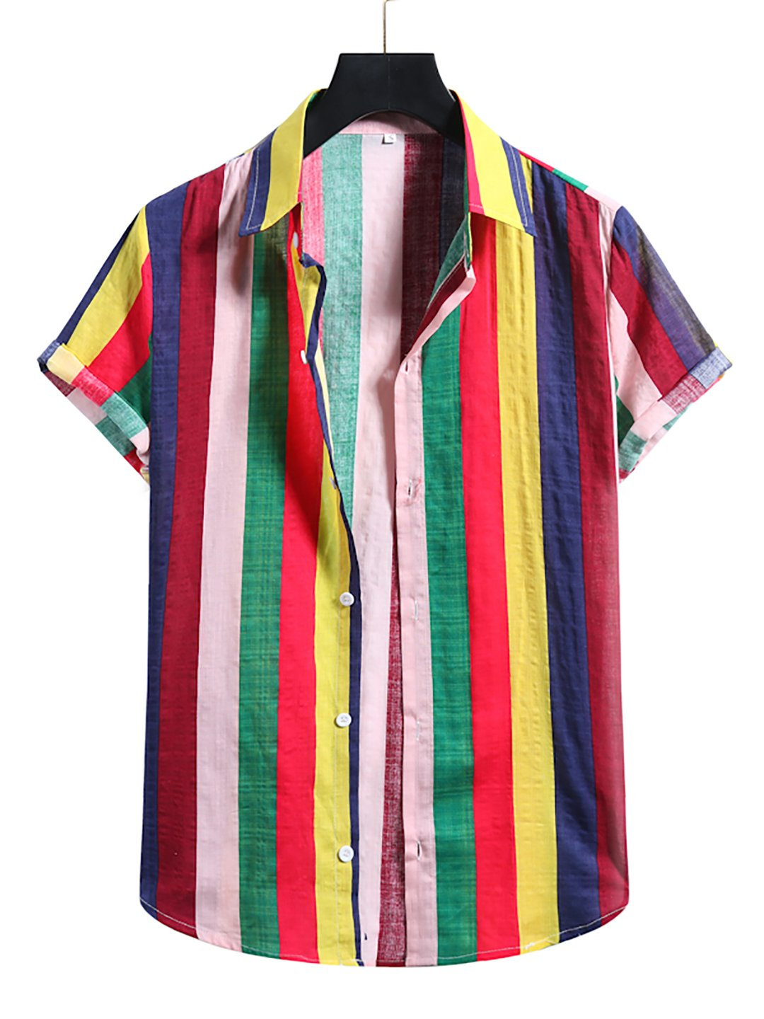 Hawaii Colorful Striped Casual Shirt / [viawink] /