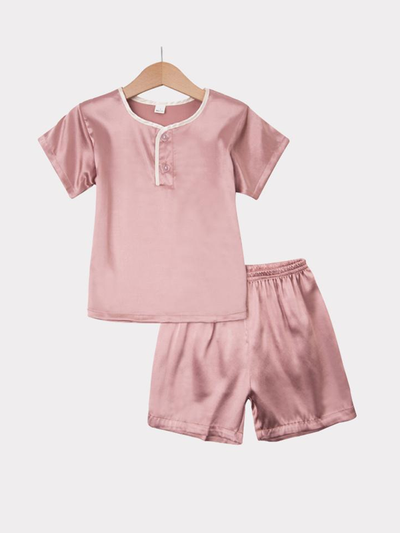 Basic Silk Pajamas Set For Kids、REAL SILK LIFE