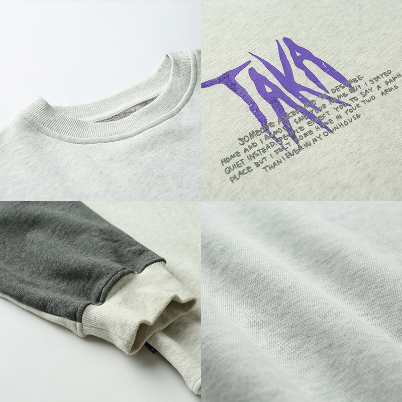 Buy New cotton long sleeves crew neck t-shirts for teen boys and girls at Taka Original. Free Shipping on orders over $60/Get $10 OFF by Sign Up!