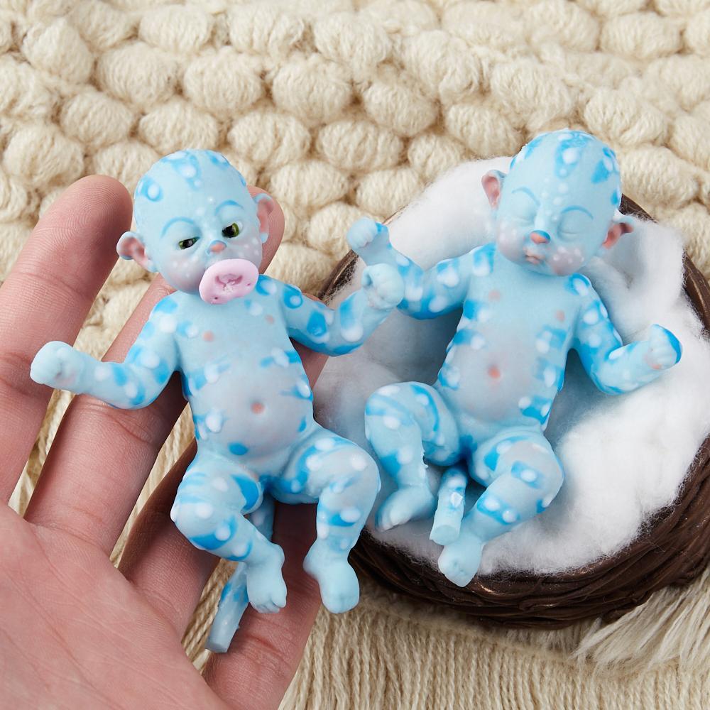 7 Inch Full Silicone Mini Reborn Fantasy Babies Mock