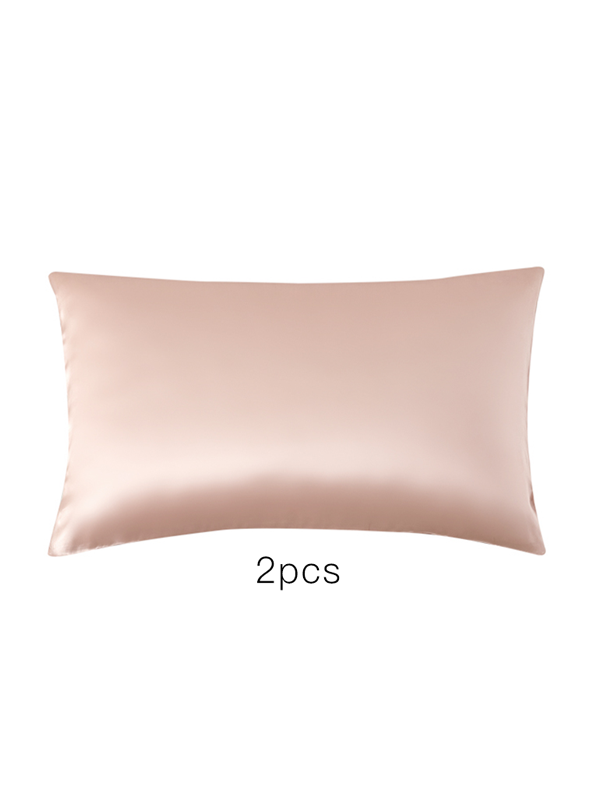 19 Momme Light Pink Single Side Mulberry Silk Pillowcase | Pillowcases 2pcs、Real Silk Life