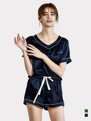 19 Momme Sport Comfy Short Silk Pajamas、Real Silk Life