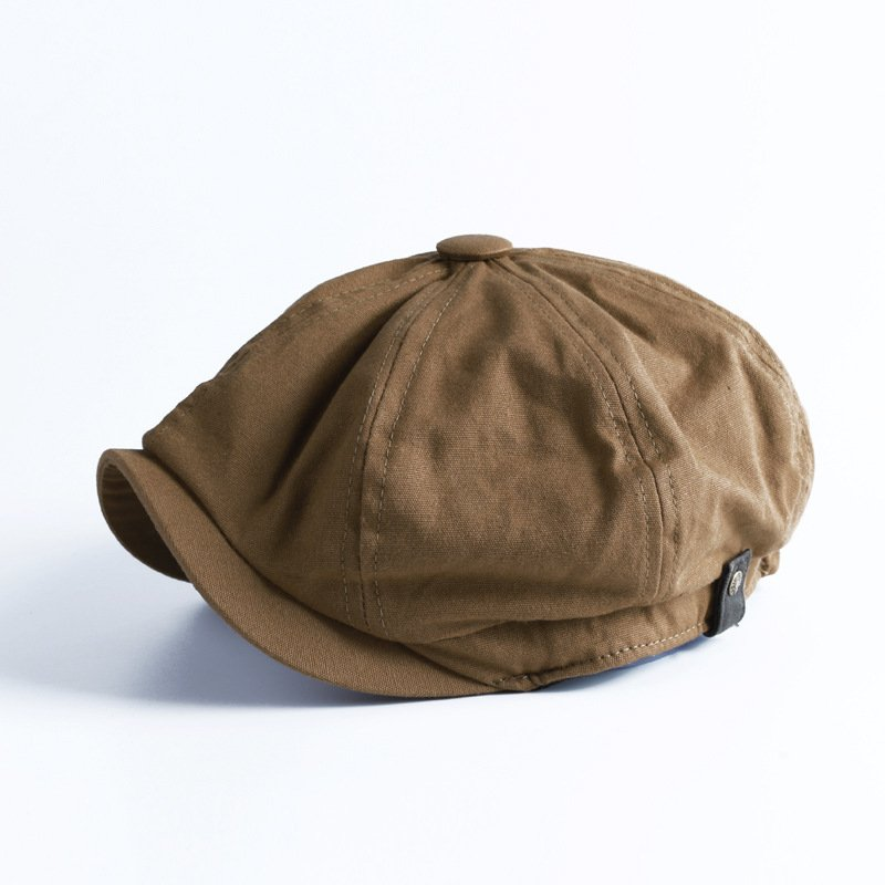 Retro autumn and winter casual British octagonal hat men beret men's trend / [viawink] /