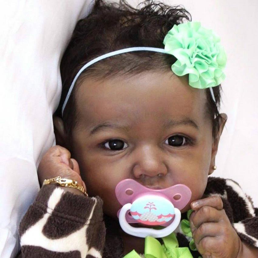 22 African American Reborn Baby Toddler Doll Girl Chaya