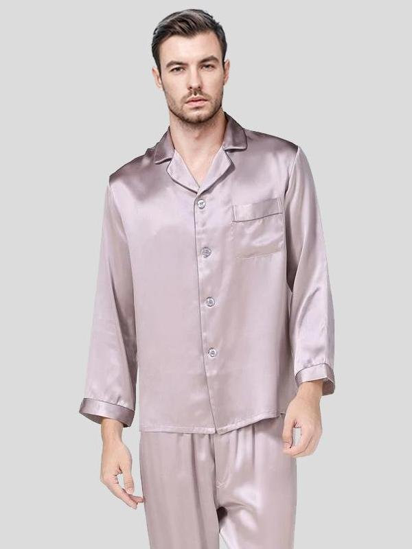 22 Momme High Quality Long Silk Pajamas、Real Silk Life