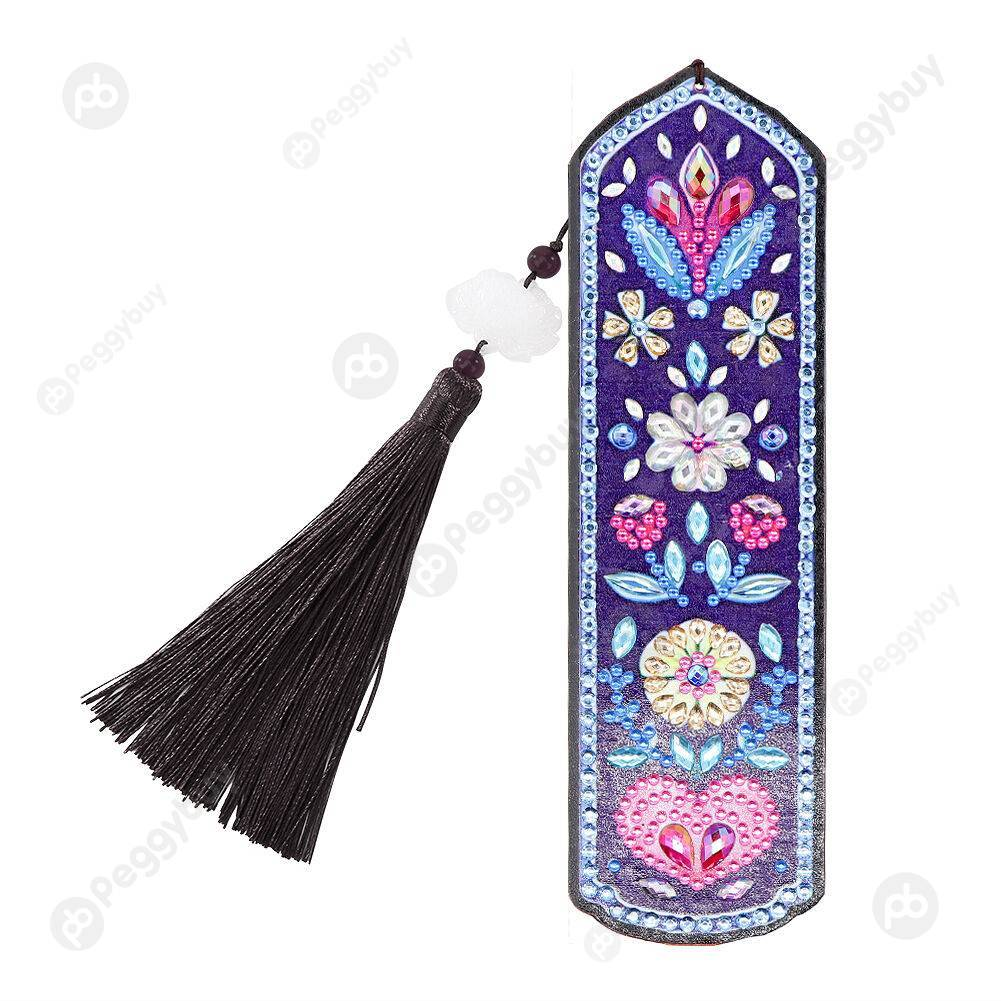 Peggybuy coupon: Flower and Hearts-DIY Crative Diamond Tassel Bookmark
