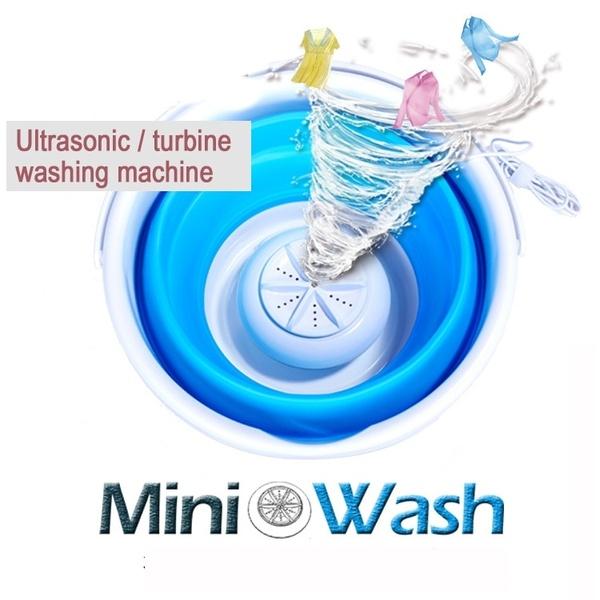 Portable Ultrasonic Turbine Washing Machine Foldable Bucket Type ...