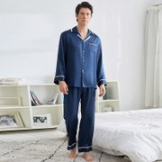 22 Momme Franch Design Silk Pajamas Set For Men | Three Colors Selected、Real Silk Life
