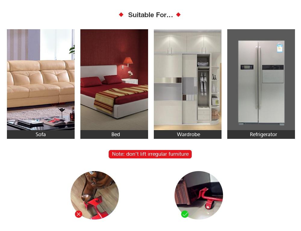 SYJ2019102206 Moving Artifact Furniture Mover Handling Tool 5pcs- Lava Red