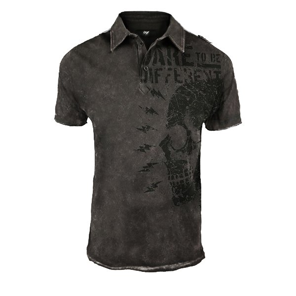 Regular polo shirt mens printed T-shirt / [viawink] /