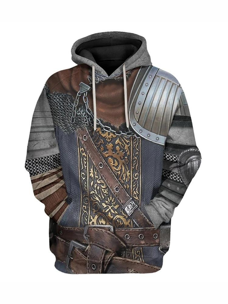 "Men's game ""Dark Souls"" series undead curse bearer sun knight hoodie / [viawink] /"