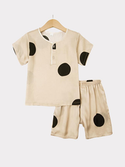Cute Point Silk Pajamas For Kids、REAL SILK LIFE