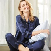 Monogrammed 22 Momme Women's Classic Heavy Silk Pajamas Set- Two Color Selected、Real Silk Life