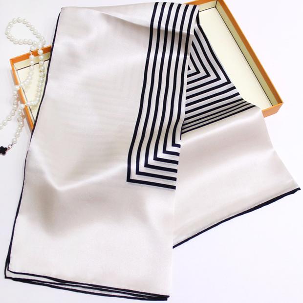 19 Momme Simple Style New Silk Scarves、REAL SILK LIFE