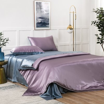 19 Momme Double Color None Stitching Silk Bedding Set 4PC、Real Silk Life