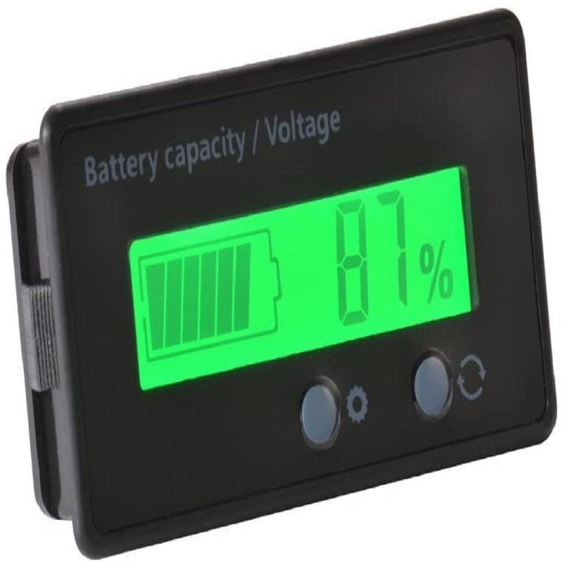 LCD Battery Capacity Monitor Voltmeter Display, 501 Original