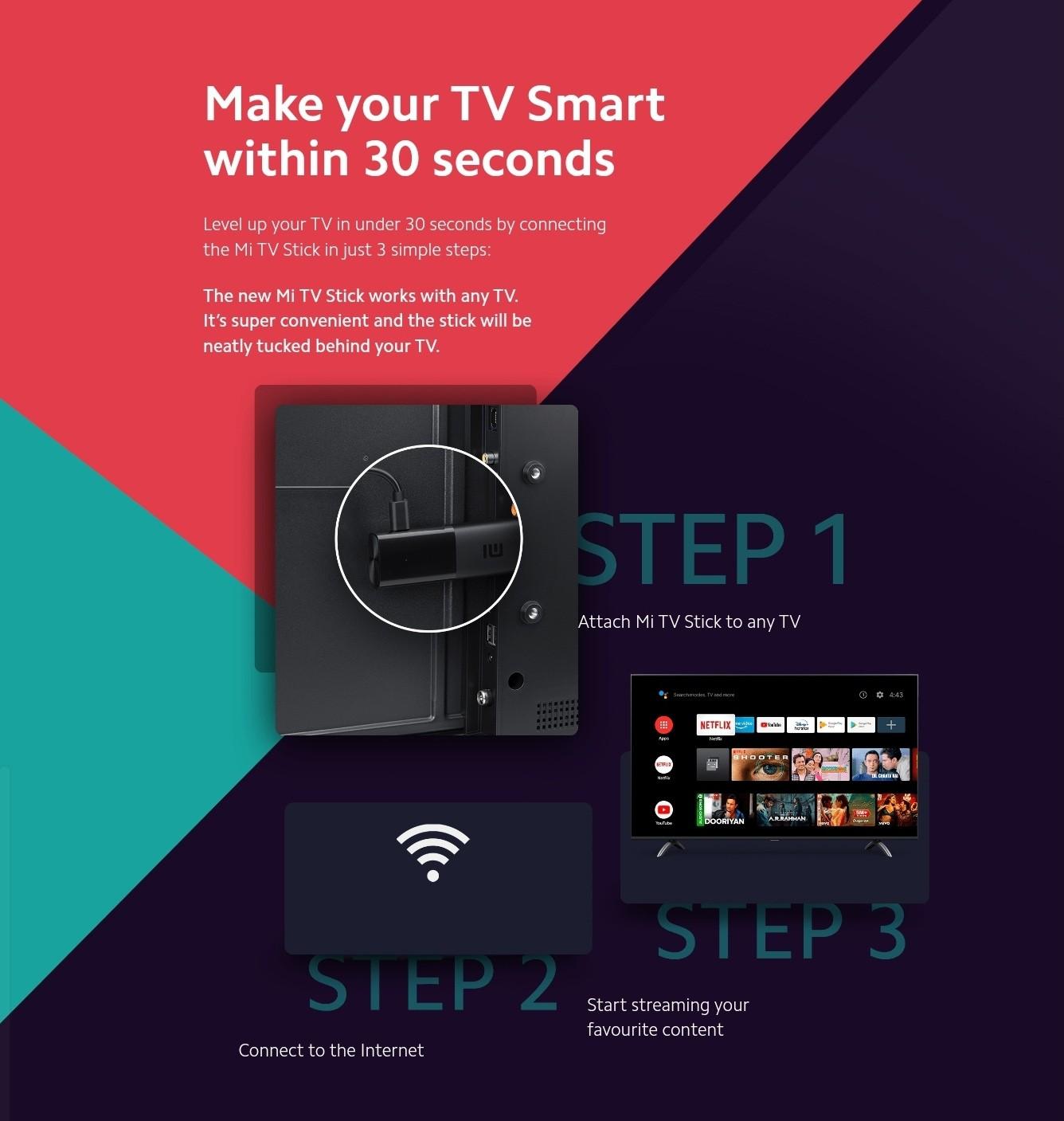 Xiaomi Mi TV Stick Globale Version mit Google Assistant HDR Netflix 1GB RAM + 8GB ROM