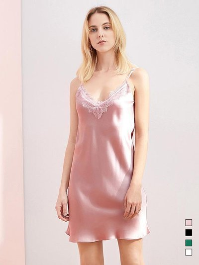 19 Momme Elegant Classic Silk Nightgown | Four Colors Selected、Real Silk Life