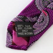 Cashew Nuts Purple Silk Tie、Real Silk Life