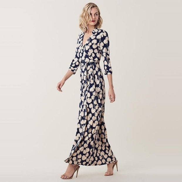 Women Printed Figure-Flatting Silk Dress、Real Silk Life
