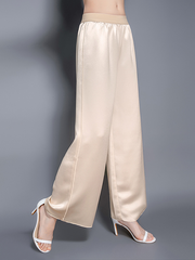 Women Casual Elastic Waist Silk Pants | Multi-Colors Selected、Real Silk Life