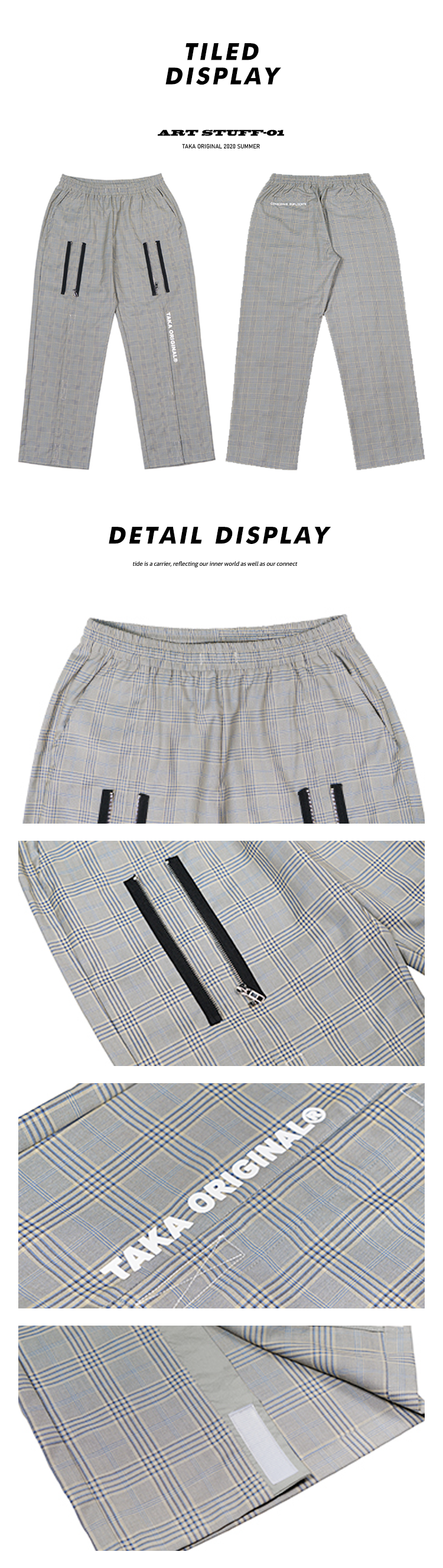 TAKA ORIGINAL UNCONSTRUCTED STRIPE TRACK PANTS