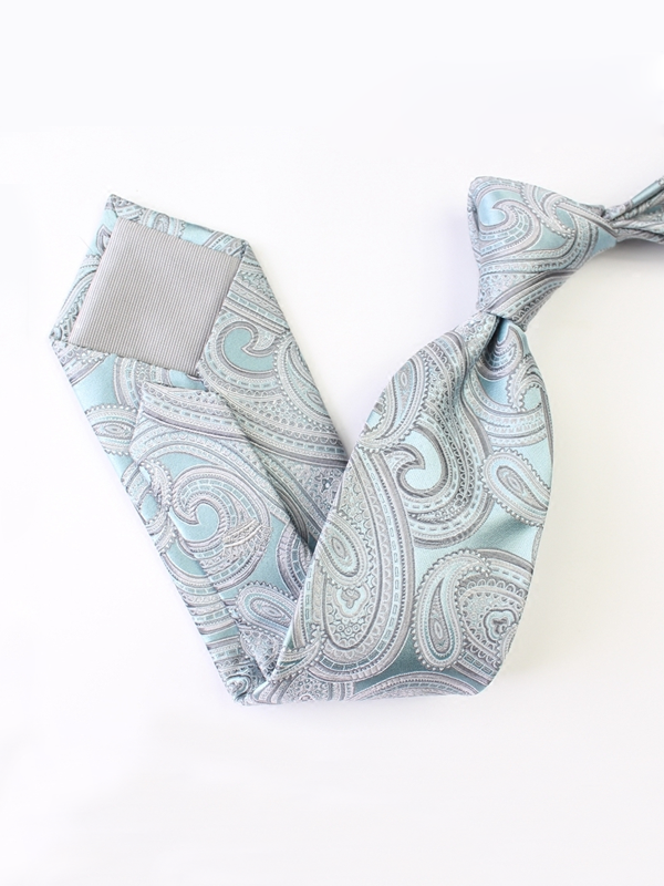 Artful Nattier Blue Silk Tie、Real Silk Life