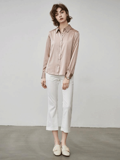 Women Classic Silk Shirt、Real Silk Life