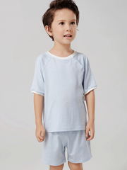 55% Mulberry Silk Plain Color Silk Lungewear For Kids、REAL SILK LIFE